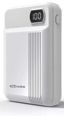 Portronics POR-236 Indo 10D 10000mAh Li-Polymer Power Bank with Display (White)
