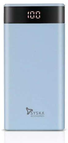 Syska Power GAIN100 P1003 10000mAh Lithium Polymer Power Bank (Light Blue)