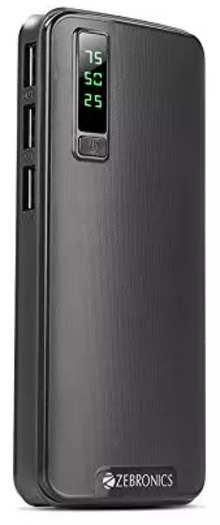 Zebronics ZEB-MC10000PD 10000mAH Lithium Ion Power Bank (Black)