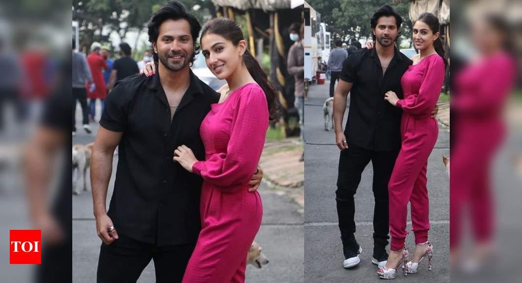 Photos: Sara Ali Khan and Varun Dhawan get snapped in the city – Times of India