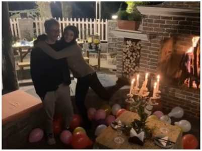 Raveena gets a sweet b'day surprise from hubby