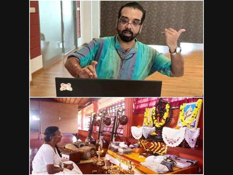 Guru pooja and vidyarambham go ahead in a digital avatar