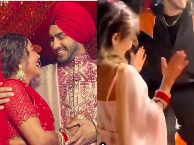 New bride Neha Kakkar gets a warm welcome at husband Rohanpreet Singh's home