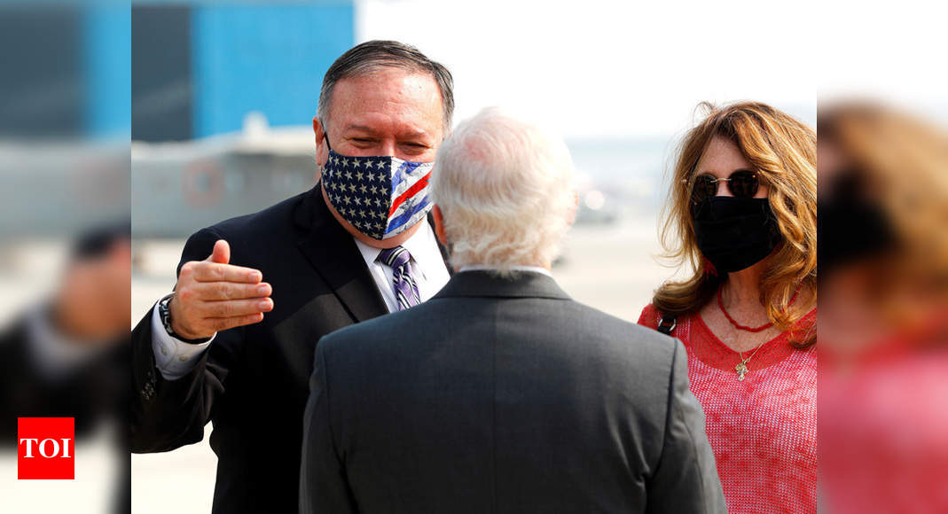 US secretary of state Mike Pompeo, defence secretary Mark Esper arrive in India - Times of India