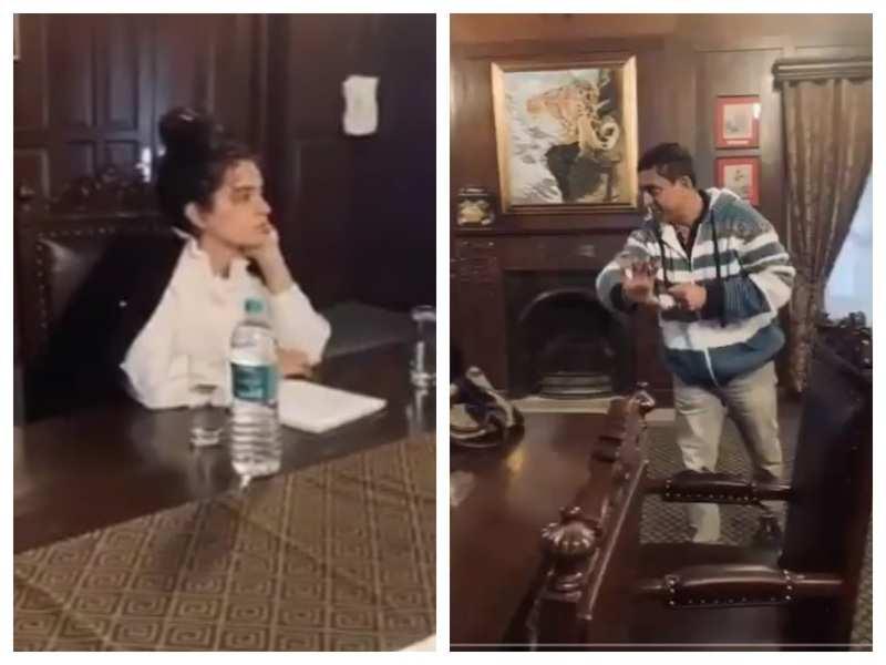 Watch: Kangana Ranaut kick-starts work on 'Tejas', attends a workshop with director Sarvesh Mewara and Wing Commander Abhijeet Gokhale