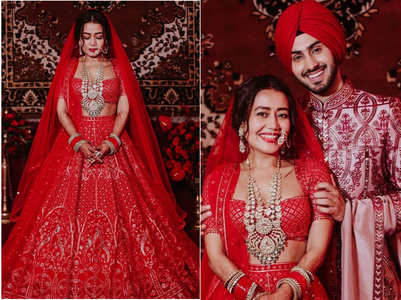 PICS: Neha, Rohanpreet shine in red