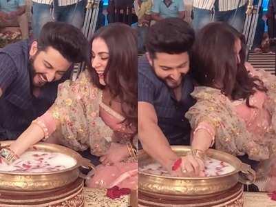 Watch Preeta, Karan's ring ceremony video