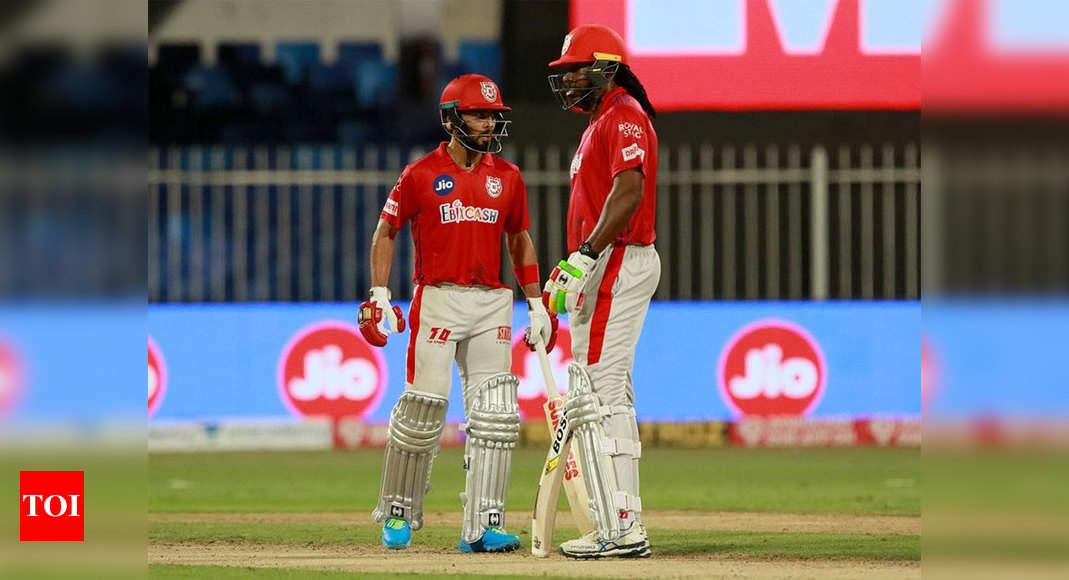KKR vs KXIP: Chris Gayle-Mandeep Singh duo takes Kings XI Punjab to top four in IPL | Cricket News – Times of India