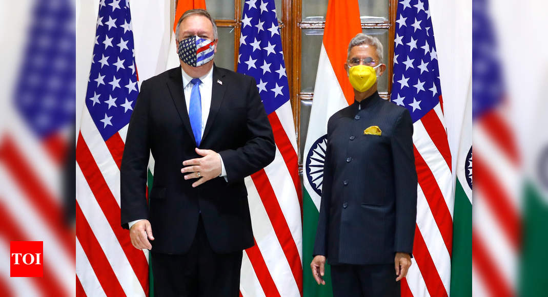 Ahead of 2+2, S Jaishankar and Mike Pompeo discuss stability and security in Asia | India News – Times of India