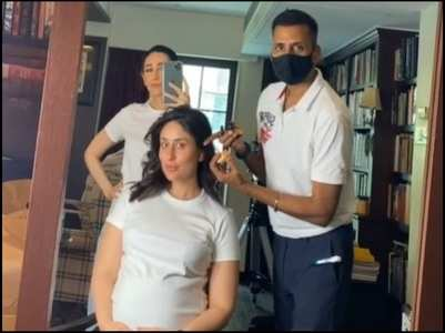 Karisma's cool BTS video with Kareena