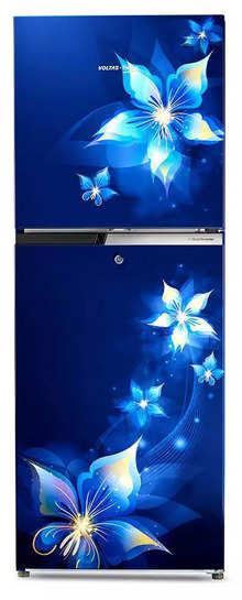 Voltas Beko RFF2553EBCF 231 L 2 Star Frost Free Double Door Refrigerator (Emeria Blue) (2020)