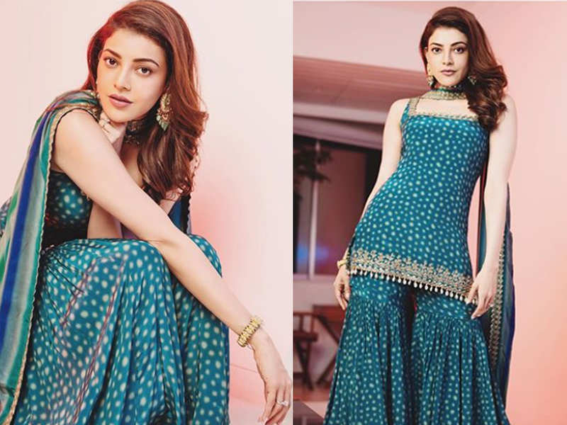 Bride-to-be Kajal Aggarwal shares stunning pictures from her Dussehra photoshoot