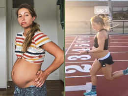 Pregnant woman runs a mile in 5 mins days before giving birth