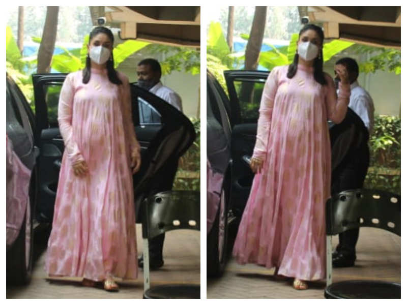 Photos: Kareena Kapoor Khan looks pretty in pink as she gets snapped outside her house