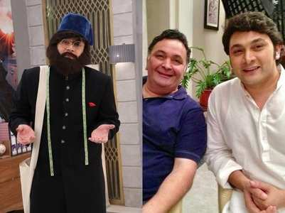 Rajesh inspired by the Rishi Kapoor in a show