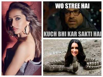 Bollywood memes on Shraddha as Naagin