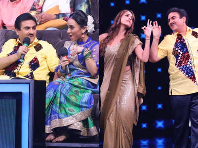 Dilip Joshi dances with fake Daya & Malaika
