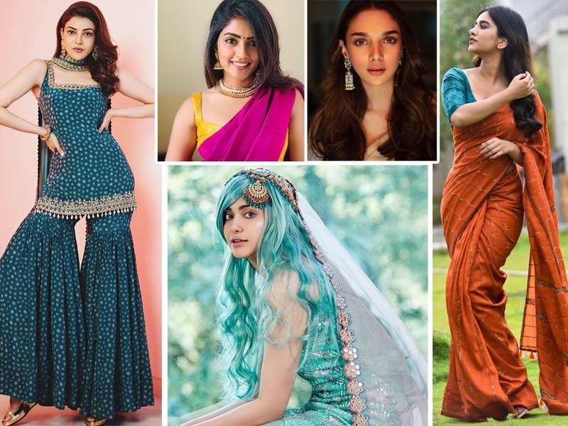 From Kajal Aggarwal to Aditi Rao Hydari and Eesha Rebba, celebs ace the festive look this season