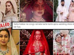Neha Kakkar trolled for 'copying' Deepika Padukone, Anushka Sharma and Priyanka Chopra's wedding looks