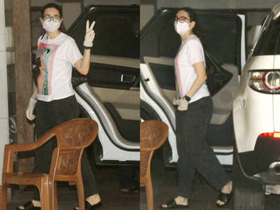 Pics: Karisma Kapoor snapped with her kids