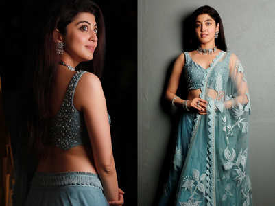 Pranitha Subhash's Tiffany blue lehenga is too HOT to miss