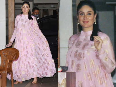 Kareena's pink anarkali is the best Diwali maternity outfit
