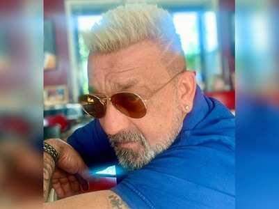 Sanjay Dutt flaunts platinum blonde hairdo