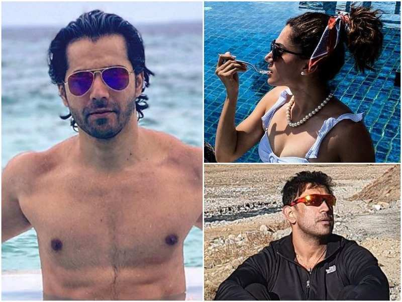 Varun Dhawan, Taapsee Pannu, Amit Sadh and other B-Towners take a break before getting into work mode