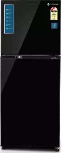 Motorola 271 L Frost Free Double Door 3 Star (2020) Refrigerator  (Black UniGlass, 272JF3MTBG)