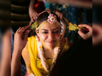 Kajal's stunning pic from her Haldi ceremony