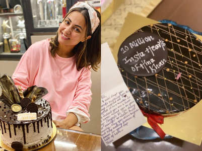 Hina gets gifts from fans on crossing 10 mn