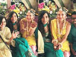 New candid pictures from Kajal Aggarwal's Haldi ceremony
