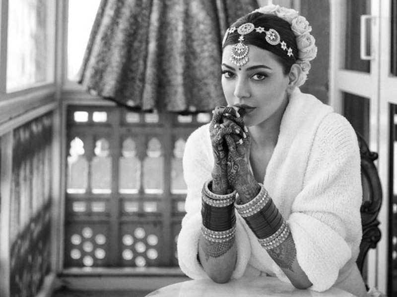 Kajal Aggarwal gives a sneak-peek of her bridal makeup and lehenga ahead of her wedding to Gautam Kitchlu