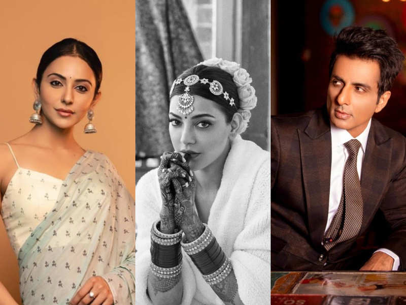 Kajal Aggarwal shares her FIRST look as a bride: Sonu Sood, Rakul Preet and other Bollywood celebs pour in heartfelt wishes for the couple