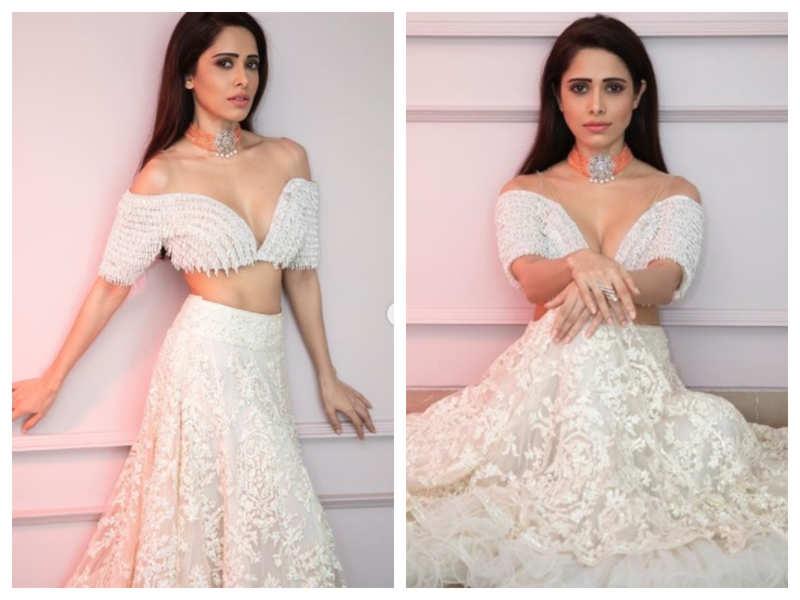 Photos: Nushrratt Bharuccha looks like a dream in her white stunning lehenga