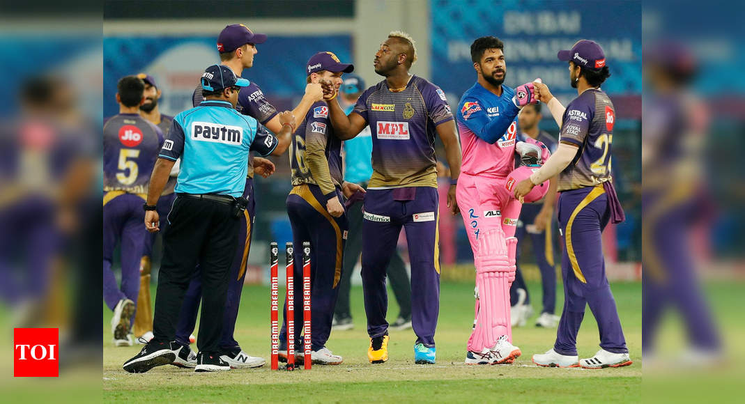KKR vs RR: Kolkata keep slim play-off hopes alive with 60-run win over Rajasthan | Cricket News – Times of India