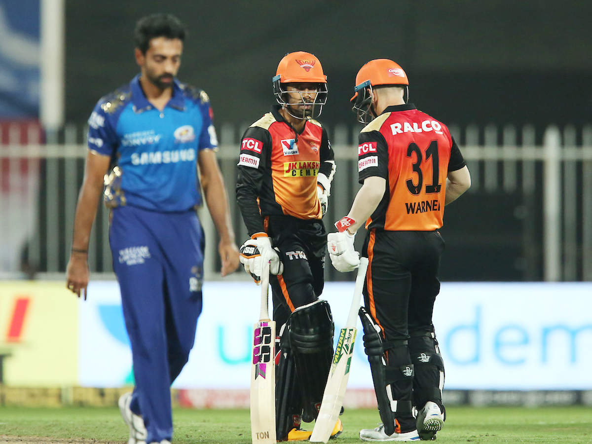 SRH vs MI Highlights: Sunrisers Hyderabad thrash Mumbai Indians by 10  wickets to seal play-off berth | Cricket News - Times of India