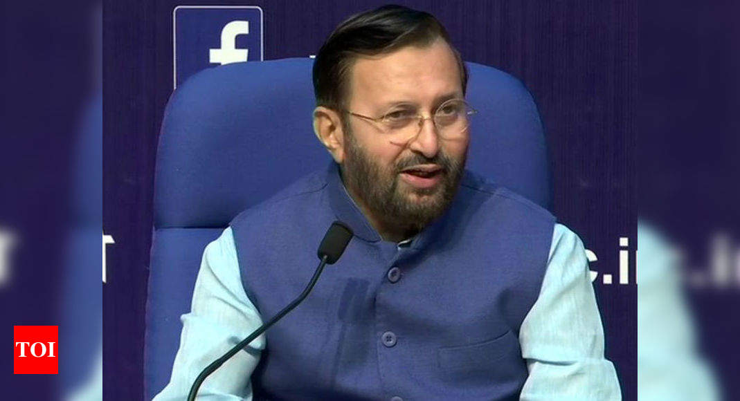 Economy coming on track faster than expected: Prakash Javadekar – Times of India
