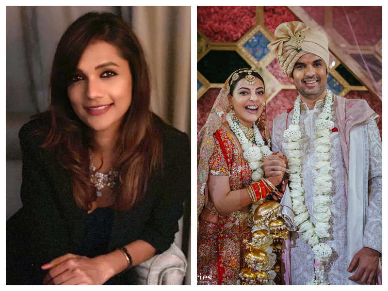 """Exclusive! """"Kajal Aggarwal and Gautam Kitchlu bring balance into each other's life,"""" says celebrity wedding designer Ambika Gupta as she opens up about the grand wedding"""