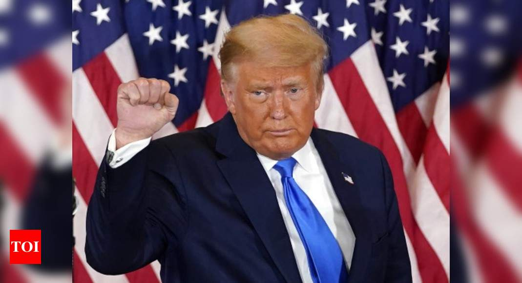 Trump alleges 'surprise ballot dumps' in states where he was leading – Times of India
