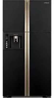 Hitachi RW660PND7 586 Ltr Side By Side Refrigerator (Glass Black)