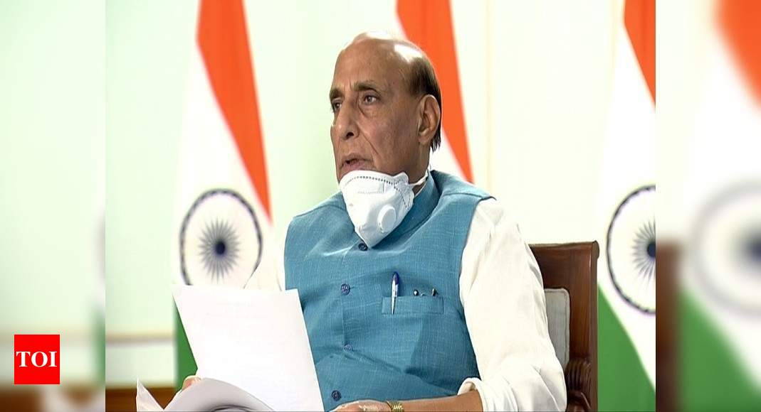 Will not allow anybody to grab an inch of India's territory: Rajnath in poll rally | India News – Times of India