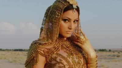 Urvashi Rautela Wears The Exquisite Gold Outfit Valued 5M USD.