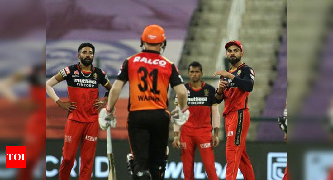 Watch: David Warner's dismissal stokes controversy in IPL 2020 Eliminator | Cricket News – Times of India