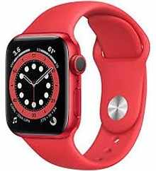 Apple Watch Series 6 GPS+Cellular 44mm M09C3HN/A Aluminium Dial Smart Watch (Red)