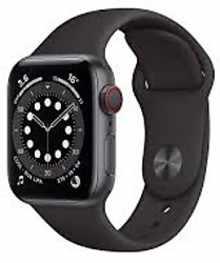 Apple Watch Series 6 GPS+Cellular 44mm MG2E3HN/A Aluminium Dial Smart Watch (Black)