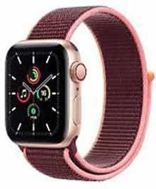 Apple Watch Series SE MYEJ2HN/A GPS + Cellular 40mm Aluminium Dial Smart Watch (Gold)