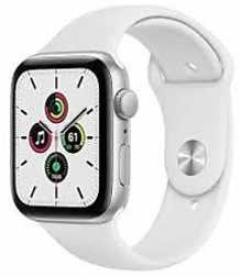 Apple Watch SE MYDQ2HN/A GPS 44mm Aluminium Dial Smart Watch (Silver)