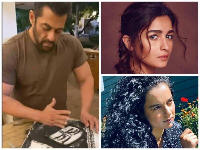 Pic: Salman Khan, Rangoli Chandel and Alia Bhatt Instagram