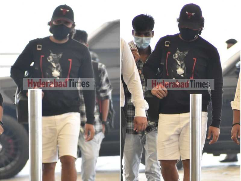 Spotted: Pushpa star Allu Arjun leaves Hyderabad looking cool in casual-chic wear